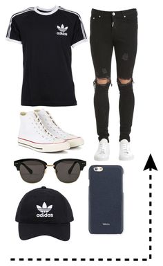 """..."" by vielka-neira on Polyvore featuring adidas, Represent, Converse, Gentle Monster, adidas Originals, Valextra, men's fashion y menswear"