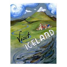 Visit See Republic of Iceland Nordic island Travel Tourism Vintage Poster Repro X Image Size. We Have Other Sizes Available! Retro Poster, Poster Ads, Poster Prints, Tourism Poster, Iceland Island, Nostalgic Art, Cool Wall Art, Pub, Travel And Tourism