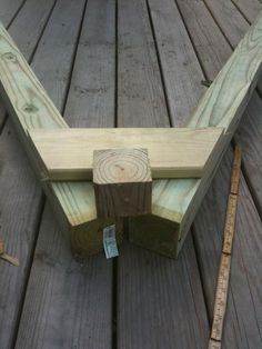 swing set blueprints Center a scrap block of above the trapezoid and draw lines on the . A Frame Swing Set, Porch Swing Frame, Wood Swing Sets, Diy Swing, Wooden Swing Set Plans, Build A Swing Set, Pallet Porch Swings, Wooden Swing Frame, Wood Plans