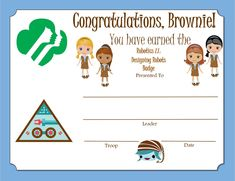 Brownie Home Scientist Badge Certificate Girl Scout Swap, Girl Scout Leader, Girl Scout Troop, Girl Scout Brownie Badges, Brownie Girl Scouts, Girl Scout Activities, Girl Scout Juniors, Daisy Girl Scouts, Girl Scout Crafts