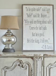 Narnia quote  vertical customizable by BetweenYouAndMeSigns, $115.00