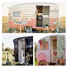 Recortes Decorados: Caravanas: Mi casa va conmigo. Gypsy Wagon, Family Camping, Rv Remodeling, Outdoor Decor, Bora Bora, Blog, Home Decor, Campers, Rv Camping