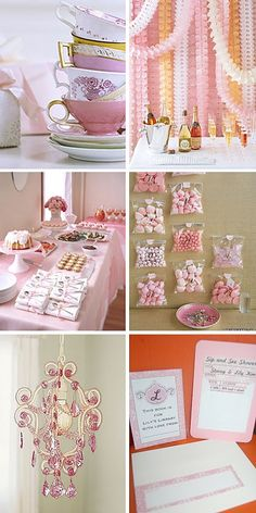 dessert table #dessert #table #pink #white #baby #shower #girl #cake #tea #party #flowers #candy #bars #cupcakes #library