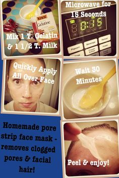 Living Unrefined: Homemade Pore Strip Mask! -- trying it right now, it smells awful!!! But hopefully it works