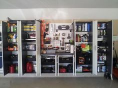 Elegant Garage With The Flow Wall System Garage Wall Storage, Wall Storage  Cabinets, Wall Storage