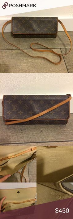 Authentic Louis Vuitton Twin Pochette GM The perfect crossbody! Just the right size to fit all the essentials! Bag is in excellent condition overall. Monogram canvas is in excellent condition with no flaws. Interior is mostly clean with a couple small marks and slight vintage smell. Strap and trim are in excellent condition. Feel free to ask questions or make an offer! Louis Vuitton Bags Crossbody Bags
