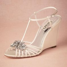 Wedding Shoes With Lace Delicate Straps Crystal Wedding Shoes Custom Pumps T Straps Buckle Closure Stiletto Heeled Ladies Shoes 4 High Wrapped Heels Women Sandals Wedge Heel Bridal Shoes From Arrowma, $87.53| Dhgate.Com