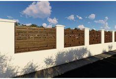 Constructie gard din beton si lemn GA07 Garage Doors, Abstract, Outdoor Decor, Home Decor, Summary, Decoration Home, Room Decor, Home Interior Design, Carriage Doors