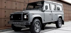 The RAW #Defender is available in Pennine Grey, a unique colour especially formulated for #G-Star, and the roof is covered with brown leatherette. Furthermore, specialist touches applied both outside and in the vehicle include: spare wheel with a brown cover embellished with the G-Star logo.  #LandRover
