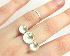 Boho Rings, Boho Jewelry, Silver Jewelry, Jewelry Design, Silver Rings, Jewellery, Silver Anniversary, Silver Pearls, Statement Rings