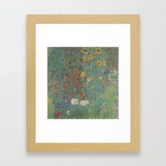 Farm Garden with Sunflowers by Gustav Klimt Framed Art Print by klimtgallery Klimt Prints, Farm Gardens, Gustav Klimt, Sunflowers, Framed Art Prints, Gallery, Products, Roof Rack, Gadget