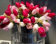 Festive and light spring decoration with pink tulips My Sweet Valentine, Valentine Images, Pink Tulips, Tulips Flowers, Modern Kitchen Interiors, Good Morning Flowers, Light Spring, Decorating With Pictures, Pretty In Pink