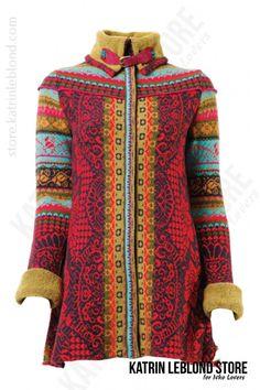 Ivko coat red 42538