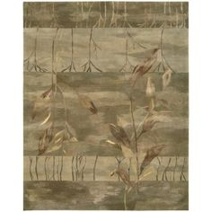 Nourison Overstock Reflections Sage 8 ft. 6 in. x 11 ft. 6 in. Area Rug-653178 - The Home Depot