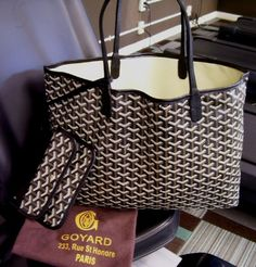 Goyard tote in black and brown