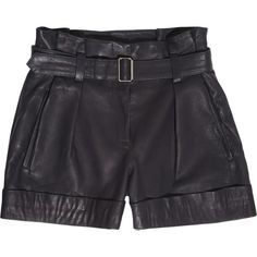 Theory Ettie leather shorts (191) found on Polyvore