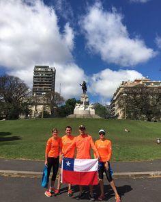 Listos con el trote de activación previo al Maratón de Buenos Aires de mañana