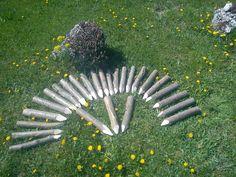 kerti szegély mogyoró cölöp Fa, Grill Pan, Belgium, Garden Tools, Pergola, Griddle Pan, Yard Tools, Outdoor Pergola