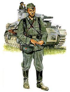 Ww2 Uniforms, German Uniforms, Military Uniforms, German Soldiers Ww2, German Army, Military Art, Military History, Eastern Front Ww2, Army Drawing