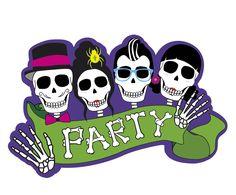 Cutout Dekoschild Sugar Skull Party