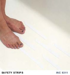Adhesive Anti Slip Bath U0026 Shower Strip For #BabySafety Solution In Bathroom.  Peel And Stick, That Easy Baby Proofing Aids Under Kids Feet.
