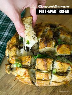 Cheese and Mushroom Pull-Apart Bread - def will try this in the near future!!!!!!!!
