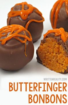 This Homemade Butterfinger Bonbons Recipe is perfect for a party and beautiful wrapped in as a sweet gift, too. Bonbons Recipe, Homemade Candies, Homemade Sweets, Homemade Butter, Christmas Finger Foods, Christmas Candy, Fall Finger Foods, Halloween Finger Foods, Holiday Candy