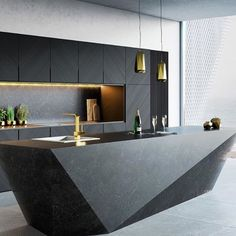 Interior design ideas for a luxury kitchen decor. On this kitchen, you can see extraordinary furniture design pieces. Take a look at the board and let you inspiring! See more clicking on the image. Design Living Room, Kitchen Room Design, Luxury Kitchen Design, Luxury Kitchens, Home Decor Kitchen, Interior Design Kitchen, Modern Interior Design, Kitchen Ideas, Gold Kitchen