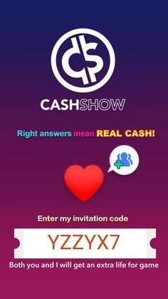 LIKE PLAYING TRIVIA GAMES? Download this new trivia game that pays REAL CASH!  Use my referral code to earn an extra life