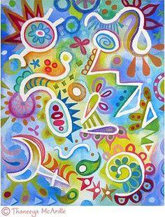 Watercolor pencil art lesson