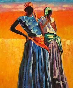 African Dress - Oil  painting art