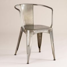 Thinking about some modern chairs to pair with our vintage-y kitchen. Like these Metal Tub Chair | @Cost Plus World Market