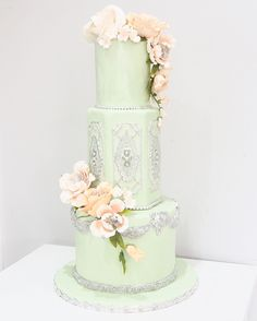 Green Cake Parfait Beautiful Wedding Cakes Pistachio Edible Art Our World
