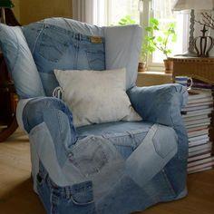 criar idéias para reciclar jeans e etiquetas de couro para os tapetes de chão, poufs, cortinas, almofadas decorativas e organizadores de casa