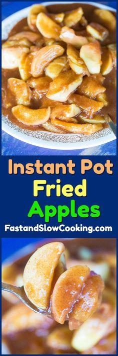 How to make Copycat Cracker Barrel Fried Apples in your Instant Pot!! #instantpot #pressurecooking #apples #dessert