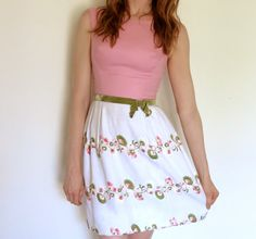 GORGEOUS 1960s Vintage floral EMBROIDERED by Blondedogvintage, $55.00