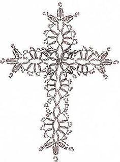 new Ideas for crochet christmas snowflakes pattern cross stitch Crochet Bookmark Pattern, Crochet Bookmarks, Crochet Cross, Crochet Diagram, Crochet Chart, Thread Crochet, Crochet Motif, Irish Crochet, Crochet Designs
