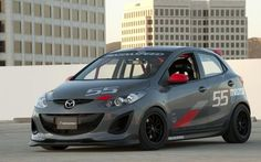 Mazda 2 at Sema - little rarely looks so mean Ford Fiesta St, Mazda 2, Buick Electra, Japan Cars, Jdm Cars, Repair Manuals, Custom Cars, Volvo, Race Cars