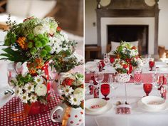 red wedding tablescape