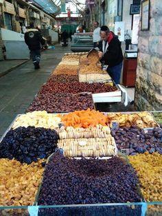 "Mahane Yehuda Market – ""The Shuk"" – Jerusalem,Israel – Sarah Justine – Join the world of pin Street Food Market, Street Vendor, Israel Palestine, Jerusalem Israel, World Street, Holy Land, Farmers Market, Around The Worlds, Marketing"