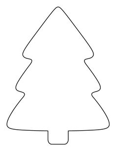 Printable simple Christmas tree pattern. Use the pattern for crafts, creating stencils, scrapbooking, and more. Free PDF template to download and print at http://patternuniverse.com/download/simple-christmas-tree-pattern/.