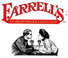"""Farrell& Ice Cream Parlor was/is similar to Jaxson& in Dania. I remember attending many birthday parties there and I faintly remember their """"Kitchen Sink"""" . Farrell's Ice Cream, Ice Cream Parlor, Great Memories, Childhood Memories, Who Is Bob, I Remember When, Ol Days, Parlour, The Good Old Days"""