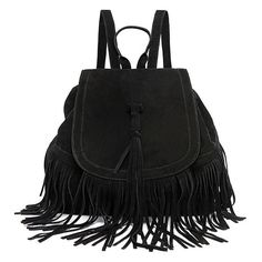 LUI SUI-- Valentine's Day Gift Women's Fringed BackpackTassel Shoulder BagsCr08 -- Click image to review more details.