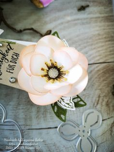"""Faltbarer Goodie """"Magnoliengruss"""" – Zsu's Home Of Art Magnolia Book, Magnolia Flower, Magnolia Homes, Diy And Crafts, Paper Crafts, Poppy Cards, Stampin Up Catalog, 3d Projects, Stamping Up"""