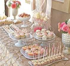 Baby or Bridal Shower Dessert Table