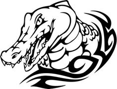 alligator tribal design - Google Search