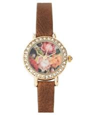 Floral face watch from asos