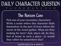 ★ Daily Character Question ★