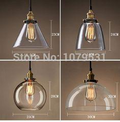 20 soorten vintage koperen hanglamp/110/220v e27 zilver glas opknoping lamp hanglamp voor thuis restaurant luminarias abajour