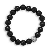 Black Onyx Bead Fashion Stretch Bracelet
